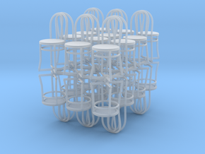 Bistro / Cafe Chair 1/32 24 pack in Smooth Fine Detail Plastic