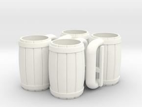 MOTUC 4 Mugs in White Processed Versatile Plastic