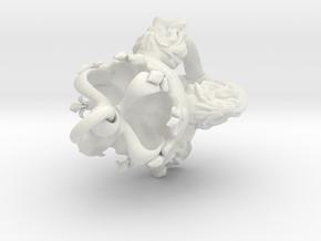 Vajra V2 w/ring in White Natural Versatile Plastic
