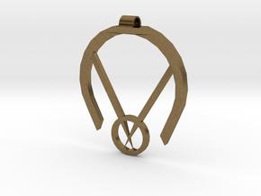 Passive Aggressive Pendant in Natural Bronze