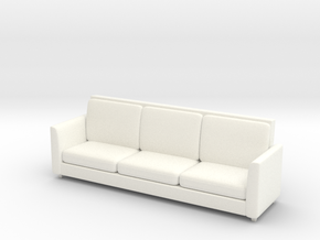 Miniature 1:48 Sofa 8 Foot in White Processed Versatile Plastic