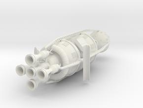 1/72 VON BRAUN ROUND THE MOON SHIP MARK II (2 PCS) in White Strong & Flexible