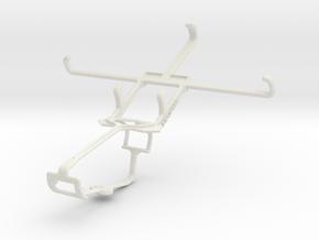 Controller mount for Xbox One & BLU Studio 5.0 C H in White Natural Versatile Plastic