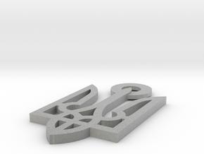 Tryzub in Metallic Plastic