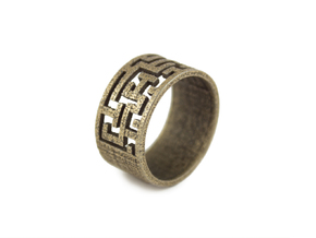 Maze Ring size US6 in Stainless Steel