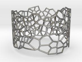 Voronoi Bracelet size L in Polished Silver
