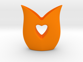 Heart Vase in Orange Strong & Flexible Polished