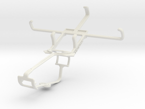 Controller mount for Xbox One & Kyocera Hydro Life in White Natural Versatile Plastic