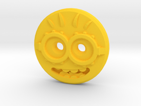Minion Shirt Button in Yellow Processed Versatile Plastic
