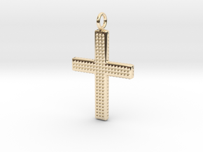 Cross pendant in 14k Gold Plated Brass