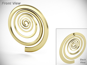 Spiral in 18k Gold Plated Brass