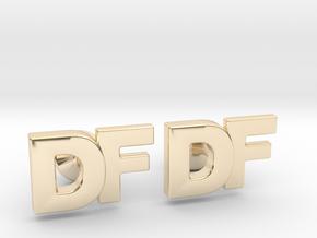 Monogram Cufflinks DF in 14k Gold Plated Brass