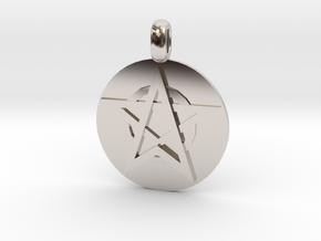 WITCH TALISMAN Amulet Jewelry symbol in Platinum