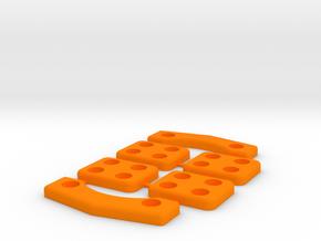 Landing Skids for ZMR250 for 4 bolts in Orange Processed Versatile Plastic