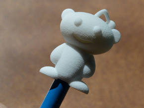 Cute Reddit Alien Snoo Pencil Topper in White Natural Versatile Plastic