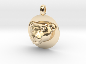 Tiger Head Jewelry Pendant Necklace in 14k Gold Plated Brass