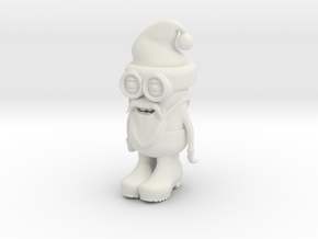 Santa Minion in White Natural Versatile Plastic