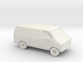 1/87 1976 Dodge Ram Van in White Natural Versatile Plastic