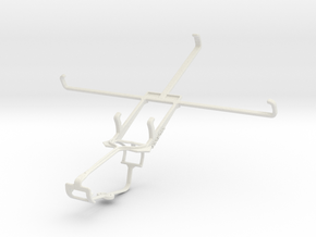 Controller mount for Xbox One & Toshiba Excite 7c  in White Natural Versatile Plastic