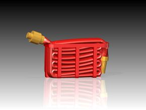 Fire Hose - Flaked x 6 1/96 in Smooth Fine Detail Plastic