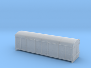 LMS 6wheel Covered Carriage Truck body - 4mm scale in Smooth Fine Detail Plastic