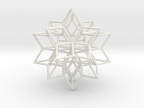 Rhombic Hexecontahedron, 1.65mm round struts in White Strong & Flexible