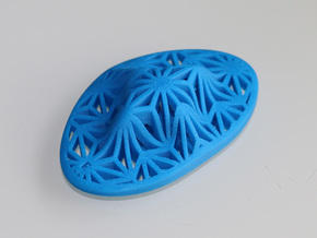 """""""Asanoha"""", Self-Massage Tool in Blue Strong & Flexible Polished"""