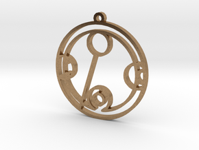 Bethany - Necklace in Natural Brass