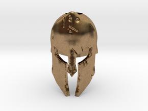 Spartan Battle Bead in Natural Brass