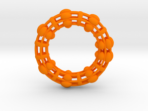 Torus 90mm in Orange Processed Versatile Plastic