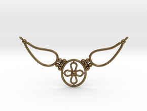 pendant with flower in Natural Bronze