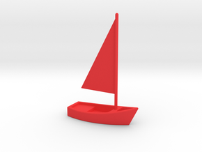 Sailboat in Red Strong & Flexible Polished