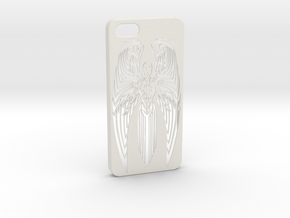 Iphone 5 Angel Case in White Natural Versatile Plastic
