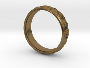 Tree of life DNA men's ring size 10 in Natural Bronze