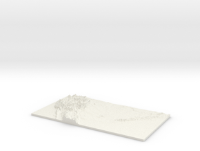 The Continental US: Topophile Model #0005 in White Natural Versatile Plastic