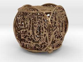 Katy Pendant in Natural Brass