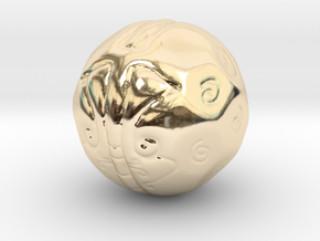 Thought Ball in 14K Yellow Gold