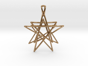Reach for the Stars Pendant in Polished Brass