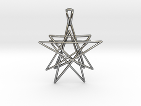Reach for the Stars Pendant in Polished Silver