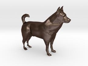 """Shepherd Dog - 5 cm / 2"""" in Matte Bronze Steel"""