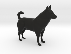 "Shepherd Dog - 10cm / 4"" in Black Natural Versatile Plastic"