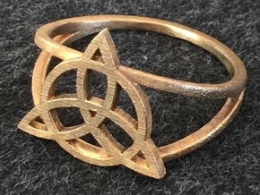 Triquetra Ring (choose size) in Raw Bronze