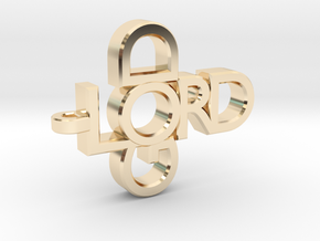 Lord God Pendant in 14k Gold Plated Brass