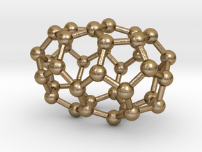 0083 Fullerene c38-2 d3h in Polished Gold Steel