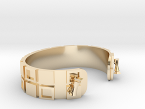 FairPlayCuffBracelet in 14k Gold Plated Brass