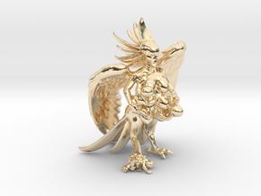 Birdwoman 3'' in 14K Yellow Gold