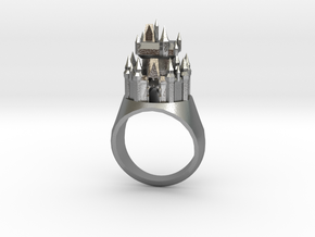 DW Cinderellas Castle Inspired Ring Size 9/S in Natural Silver