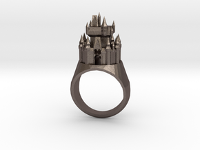 DW Cinderellas Castle Inspired Ring Size 9/S in Polished Bronzed Silver Steel