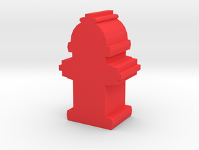 Game Piece, Fire Hydrant in Red Processed Versatile Plastic