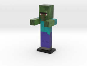 Zombie Villager in Full Color Sandstone
